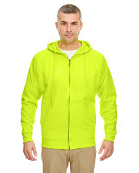 Rugged Wear Clothing Ultraclub Mens Rugged Wear Thermal Lined Full Zip Hooded