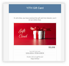 create a gift card yith woocommerce gift cards