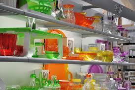cuisine coloré magasin coloré de vaisselle de cuisine image stock image du
