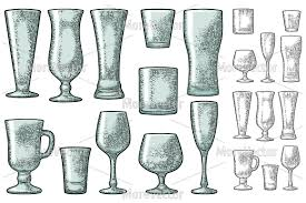 whiskey glass svg set empty glass beer vodka whiskey w design bundles