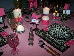 tablescaping mikasa leopard dishes and pink polka dot tablescape