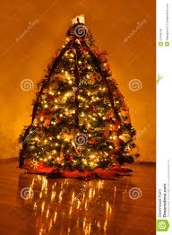beautifully decorated home christmas tree stock photo image