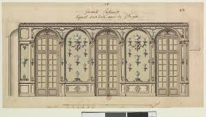 Palace Design File Design For The Grand Cabinet With Decorated Mirrors At The