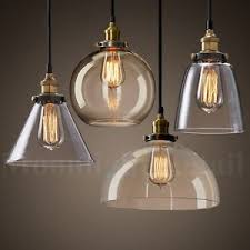 Vintage Pendant Light New Modern Vintage Industrial Retro Loft Glass Ceiling L Shade