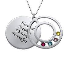 birthstone necklaces for mothers birthstone necklace for mothers with engraving mynamenecklace