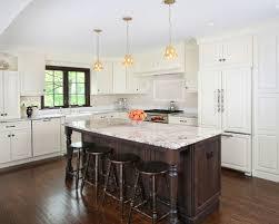 white kitchen wood floors dark island white cabinets houzz