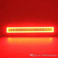 orange led light bar 72w 14 inch cree led light bar with remote controller rgb halo ring