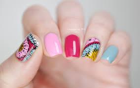 mandala nails lacquered bits