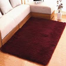 Solid Color Area Rug Hughapy Modern Soft And Thicken Fur Shag Solid Color Area