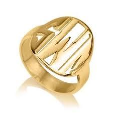 Monogram Rings Gold 9 Best Gold Name Rings Images On Pinterest Name Rings Custom