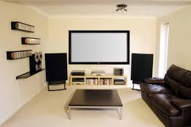 interior elegant white home theater room featuring modern dark