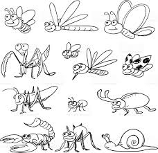 cartoon insect in black and white stock vector art 165801201 istock