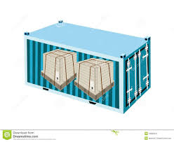 shipping boxes with steel strapping in cargo conta royalty free