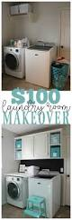 Laundry Room Shelves And Storage by Laundry Room Makeover For Under 100 Laundry Rooms Laundry And