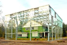 Glass Box House Oving Architecten Envelopes Former Concentration Camp House In