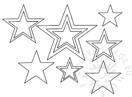 patriotic stars template coloring page