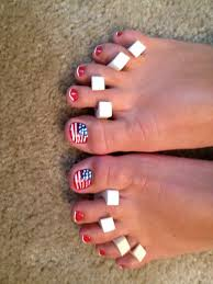 american flag pedicure for the 4th of july nails u0026 toes by mary