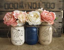 Rustic Center Pieces 18 Peach And Navy Blue Inspired Wedding Color Ideas