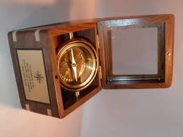 engravable box desk compass custom made wooden box