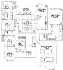 four bedroom house plans one story four bedroom house plans for large family home interior plans ideas