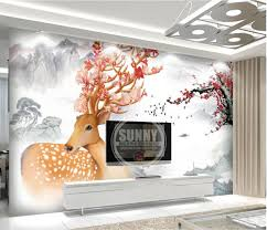 online get cheap custom wall fountains aliexpress com alibaba group custom 3d wallpaper fountain dream forest deer sofa background 3d nature wallpapers for living room wall mural