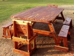 picnic tables with 6 benches