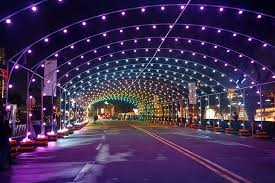 light n leisure the purple buildings philippines first christmas light tunnel now dazzling dancing