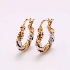 3 gram gold earrings 26393 new 2016 beautiful 3 gram gold plated earrings