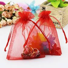 present bags 100pcs jewelry gift bags 7x9cm organza bags pouches wedding candy