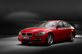 cars bmw red red car bmw 3 series on a gray background wallpapers and images