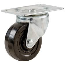casters furniture accessories the home depot soft rubber swivel plate caster with 90 lb load rating