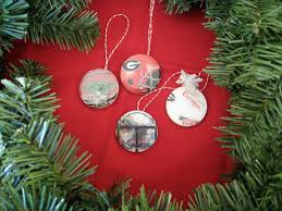 learn how to make glossy college christmas ornaments trees diy