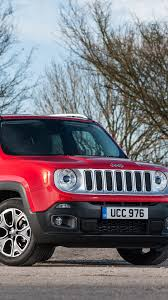 jeep screensaver jeep renegade limited red side view hd background wallpaper
