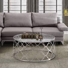 Silver Table Ls Living Room Silver Quatrefoil Coffee Table