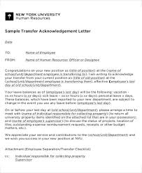 hr transfer letter template 5 free word pdf format download