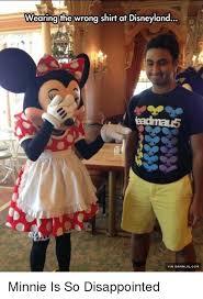 Disneyland Meme - wearing the wrong shirt at disneyland via damnlolcom minnie is so