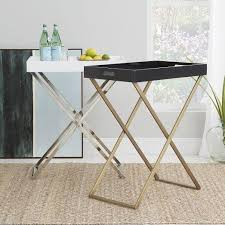 butler table with tray butler tray stand in bronze and nickel