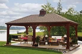 Cheap Patio Kits Backyard Pavilion Kits Traditional Wooden Pavilions Wooden
