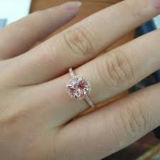7mm diamond 426 morganite engagement ring pave diamond wedding 14k