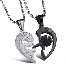 couple necklace chains images Girlz lock and key in heart couple alloy pendant set price in jpeg