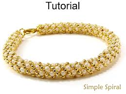 new necklace patterns images Beading tutorial pattern bracelet necklace russian spiral stitch 42879