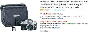 olympus camera black friday amazon deals archives 43 rumors
