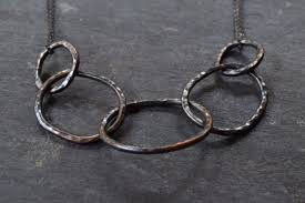 link necklace images Oxidized chain link necklace mckinsey bamber jewelry jpg