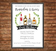 stock the bar shower invitation stock the bar watercolor wedding bridal shower party