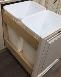 trash can cabinet insert lexington cinnamon glaze trash can insert for an 18 base cabinet
