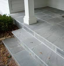 Outside Tile For Patio What About A Lovely Blue Stone Front Stoop And The Facade Of The