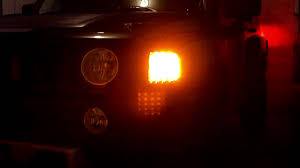 Hummer H3 Clearance Lights by Hummer H3 Led Corner Lights Youtube