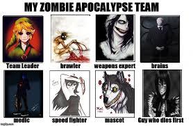 My Zombie Apocalypse Team Meme Creator - my zombie apocalypse team memes imgflip
