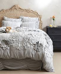 ruffle bedding classic ruffle duvet cover in ivory marie linen