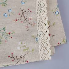 fashion dandelion linen table cloth country style flower print